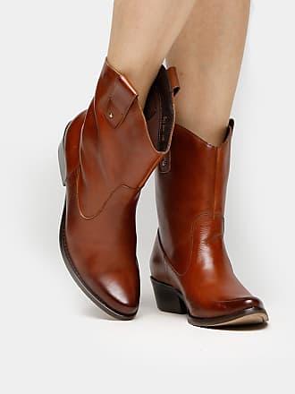 e3775d9e6a Shoestock Bota Couro Country Shoestock Salto Grosso Feminino - Feminino