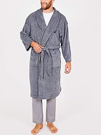 3f2a9d1df5 Nautica Mens Long Sleeve Cozy Soft Plush Shawl Collar Robe