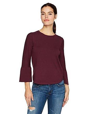 Max Studio Womens Tie Sleeve Sweater, Heather Bordeaux, XS