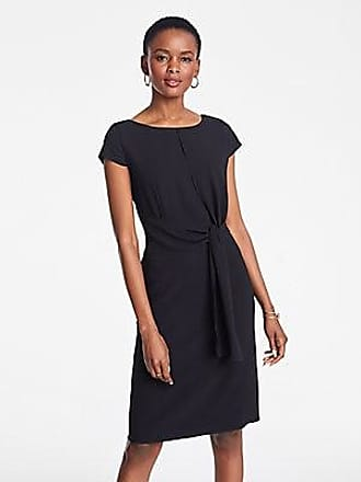 ANN TAYLOR Petite Foldover Tie Waist Sheath Dress