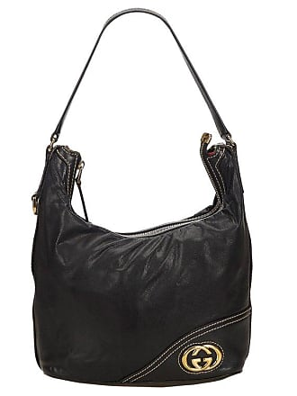 c7183ec229c Gucci Black Medium Guccissima Leather Britt Hobo