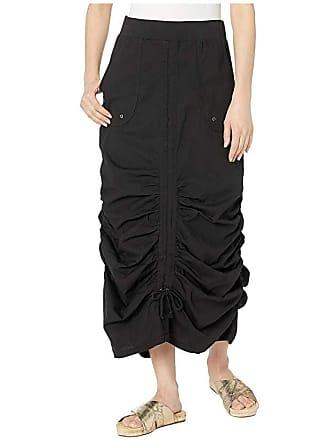 Xcvi Wearables Vintage Skirt in Stretch Poplin (Black) Womens Skirt