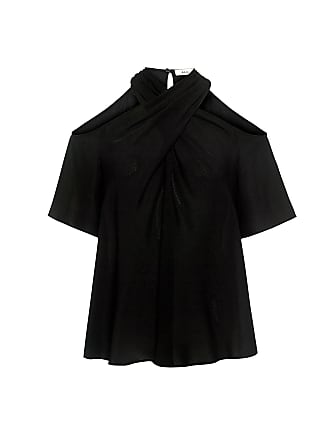 A.L.C. Kayley Cold Shoulder Silk Blouse Black