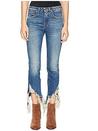 R13 Spiral Kick with Frayed Hem (Kelly) Womens Jeans