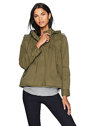 Lucky Brand Womens Raw Edge Military Jacket, Olive Night, S