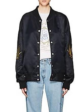 Adaptation Womens Appliquéd Satin Bomber Jacket Size M