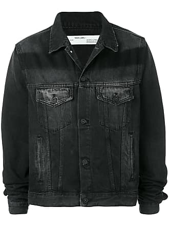 Off-white printed denim jacket - Black