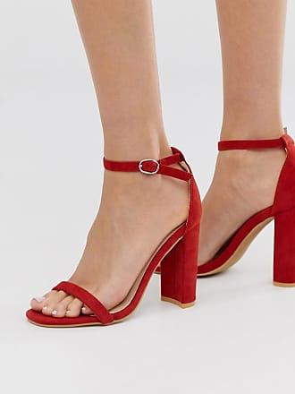 Glamorous Sandali con tacco effetto nudo rossi-Rosso