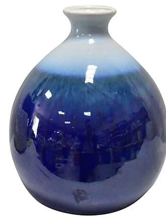 Three Hands Blue Gradient Ceramic Bud Vase - 32162