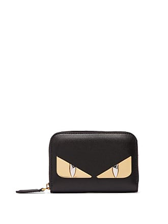 d40778845c Fendi Bag Bugs Zip Around Leather Wallet - Womens - Black Gold