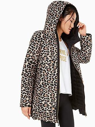 Kate Spade New York Reversible Leopard-print Parka, Roasted Peanut - Size L
