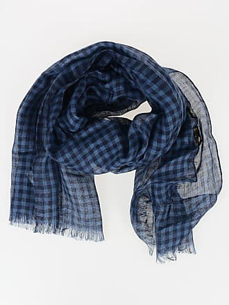 Corneliani 200x50cm Silk and Linen Checked Foulard size Unica