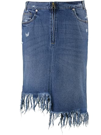 Only Jeansrock Damen in medium-blue-denim, Größe  34 b365abe4ab