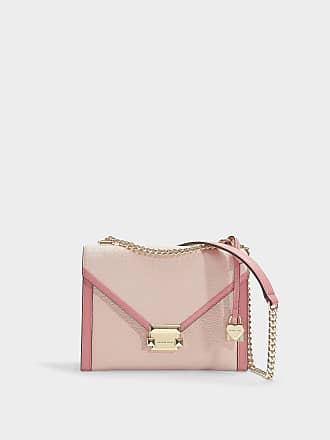 cc8bdee504632 Michael Michael Kors Whitney Large Shoulder Bag in Soft Pink Grained  Calfskin