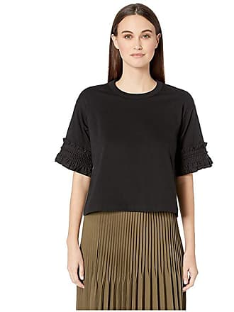 ee5cc0aab1467f See By Chloé Embellished Sleeve T-Shirt (Black) Womens Clothing