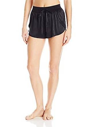 Yummie Tummie Womens Sandwashed Silk Petal Short, black, XL