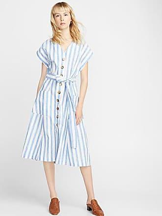 Icone Twin stripe linen dress