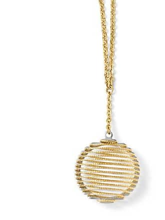 Quality Gold 14k Two Tone Gold Italian 20mm Wire Wrapped Necklace, 18 Inch