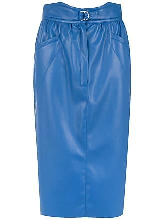 Framed Saia midi Tulip - Azul