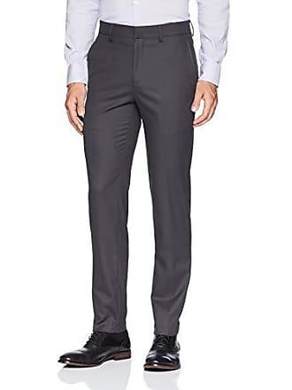 Haggar Mens J.m Premium Check Slim Fit Suit Separate Pant, Charcoal, 36Wx30L