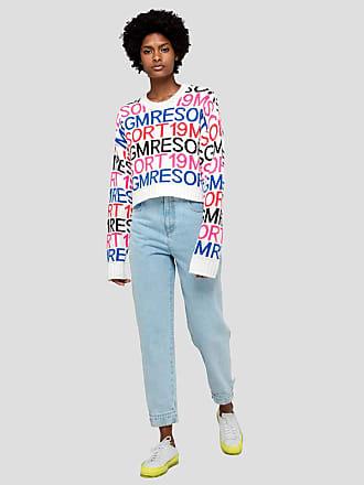 Msgm crop sweater with msgm resort jacquard