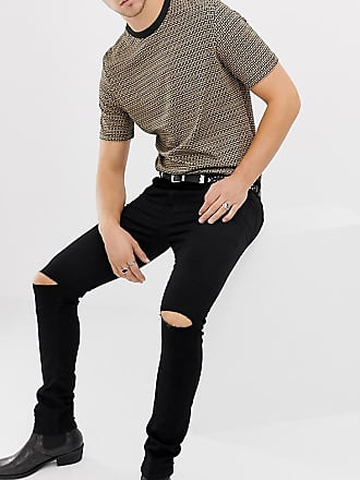Heart & Dagger super skinny jeans with knee rips - Black