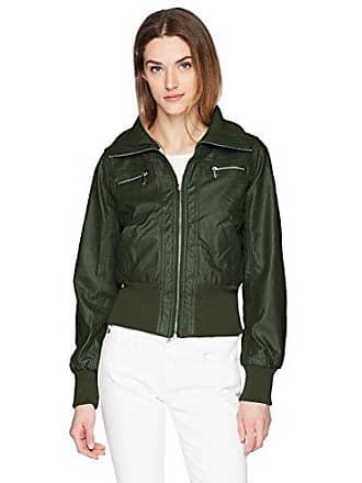 Yoki Womens Sherpa Lined Pu Jacket, Olive XL
