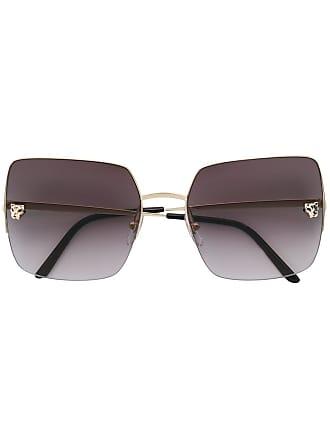 5e4d4f8458c Cartier Óculos de sol Panthere oversized quadrado - Dourado