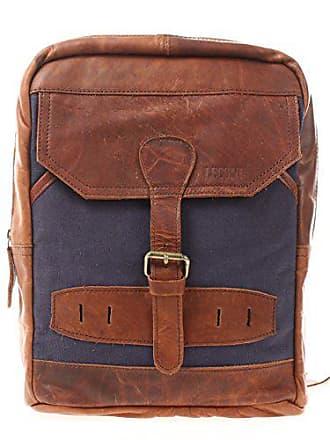 0993ba4eeca0e Leconi Crossbag Rucksack aus Canvas   Leder Bodybag für Damen + Herren  Umhängetasche im Vintage-