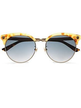 88d7fa2d5c4 Gucci Gucci Woman Clubmaster Printed Acetate And Burnished Gold-tone  Sunglasses Gold Size