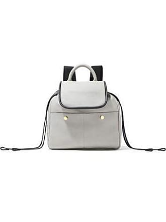 Marni Marni Woman Pebbled-leather Backpack Light Gray Size