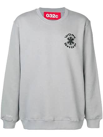 032c logo hoodie - Grey