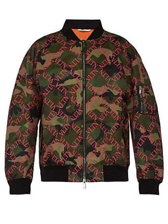 Valentino Logo Print Camouflage Bomber Jacket - Mens - Khaki e3d10b7a4