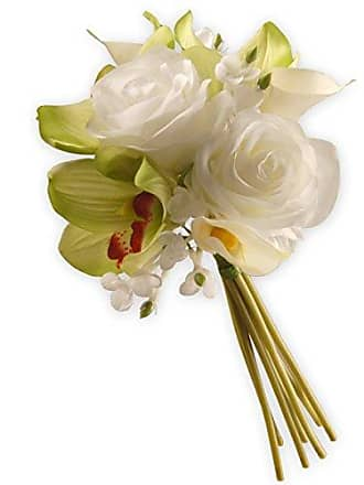 National Tree Company National Tree 10 Inch Garden Accents White and Pink Rose and Calla Lily Bouquet (GARO30-10BW)