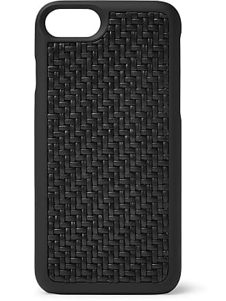 Ermenegildo Zegna Pelle Tessuta Leather Iphone 7/8 Case - Black