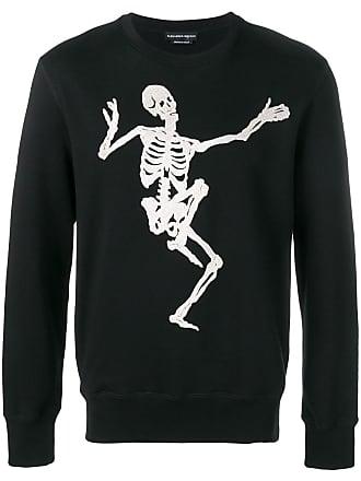 Alexander McQueen skull embroidered sweatshirt - Black