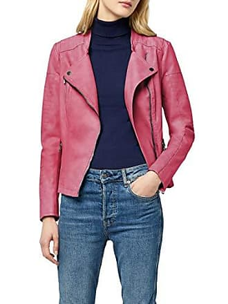 b81a1068ea86aa Only Onlava Faux Leather Biker Otw Noos, Giacca Donna, Rosa (Virtual Pink)