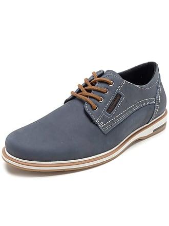Pegada Sapato Couro Pegada Liso Azul
