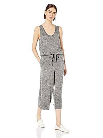 Daily Ritual Womens Supersoft Terry Sleeveless Wide-Leg Jumpsuit, Heather Grey Spacedye, Small