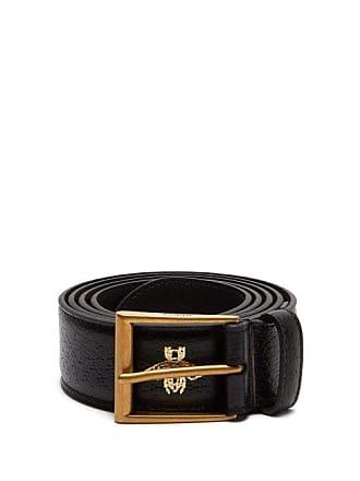 c7194b4da78 Gucci Star And Bee Hot Stamped Leather Belt - Mens - Black Multi