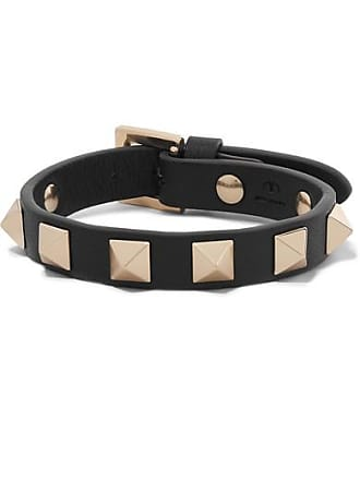 2ed3ece570c0 Valentino Valentino Garavani The Rockstud Leather Bracelet - Black