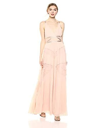 91225487a630 Bcbgmaxazria BCBGMax Azria Womens Sleeveless Lace Inset Pleated Gown, Bare  Pink, 6