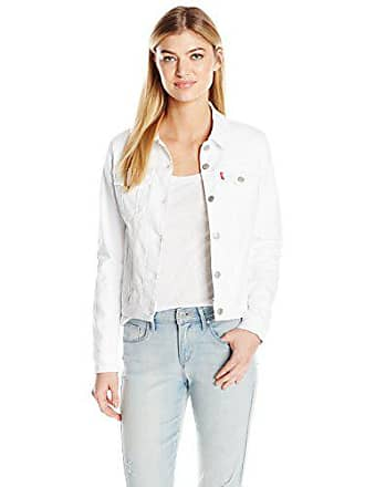Levi's Womens Classic Trucker Jacket, Clean White, X-Large