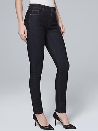White House Black Market Womens High-Rise Sculpt Fit Skinny Jeans by White House Black Market, Dark Wash, Size 14 - Regular