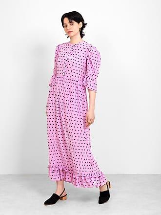 Batsheva Long Prairie Dress Pink