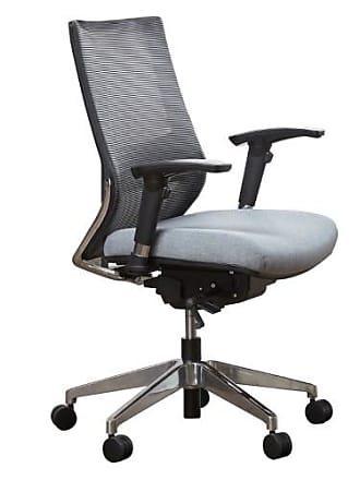 Unique Furniture Gray CEO Mid-Back Office Task Chair