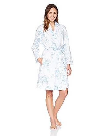 e0f136ff56 Carole Hochman Womens Short Wrap Robe with Lace Trim, Floral Damask, L/XL