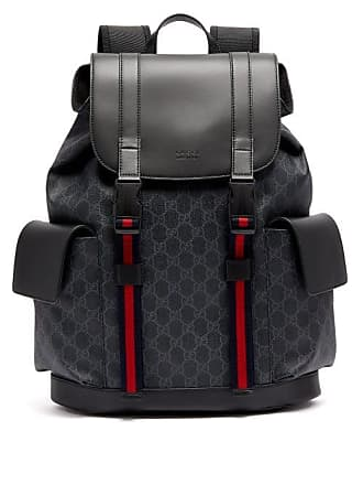 56e144eda Gucci Gg Supreme Canvas And Leather Backpack - Mens - Black