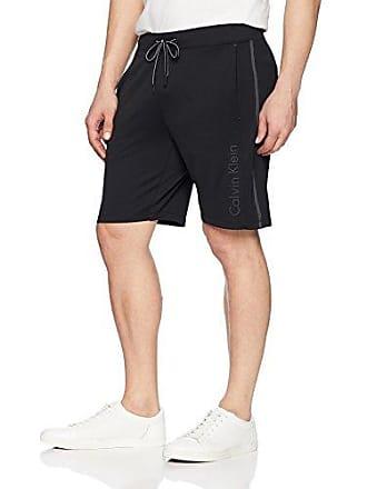 Calvin Klein Mens Calvin Logo Printed Knit Short, Black, XS