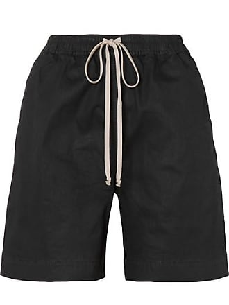 Rick Owens Coated-denim Shorts - Black